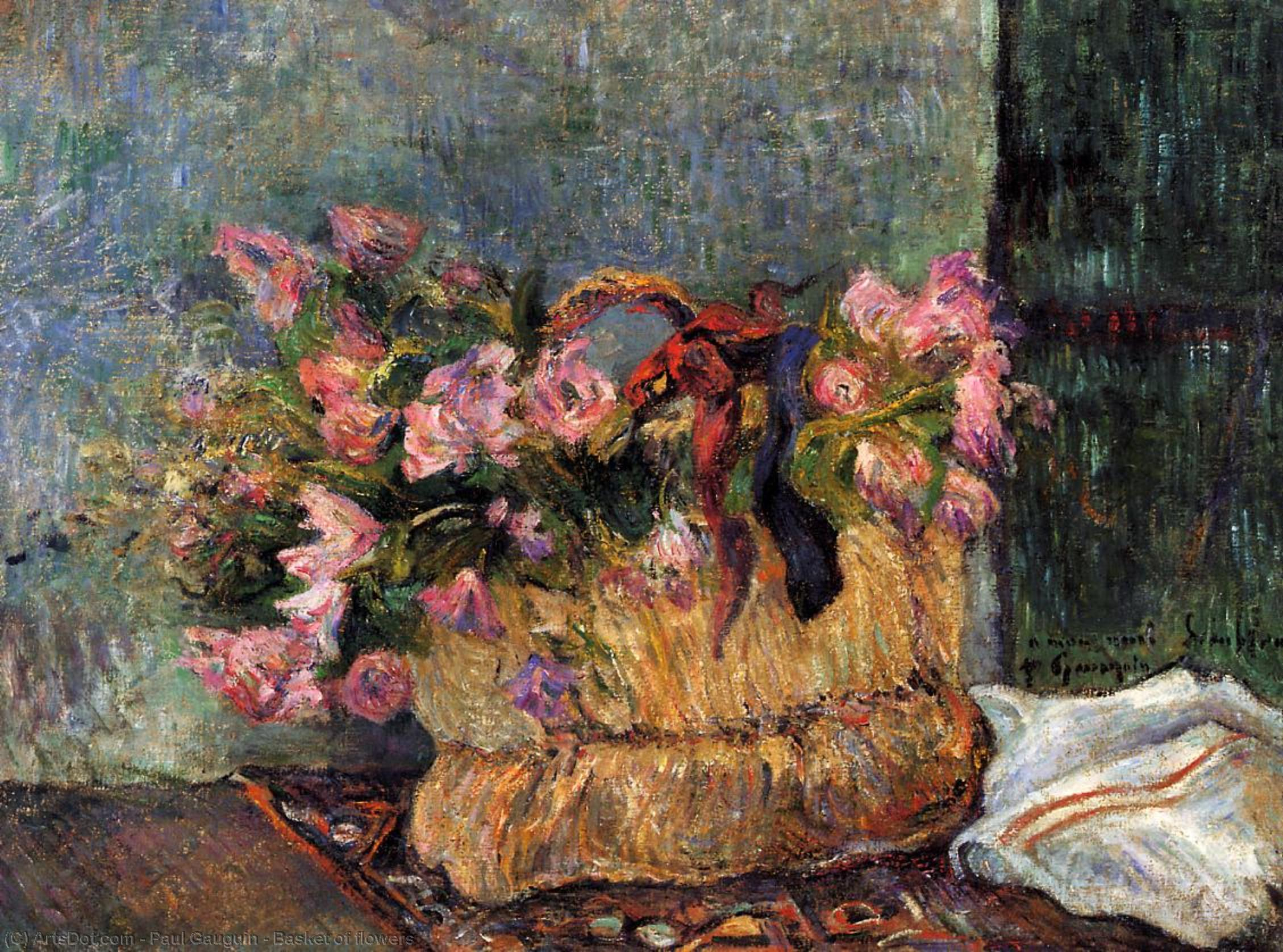 натюрморт - цветы < Корзина цветов > :: Поль Гоген - Гоген Поль ( Paul Gauguin ) фото