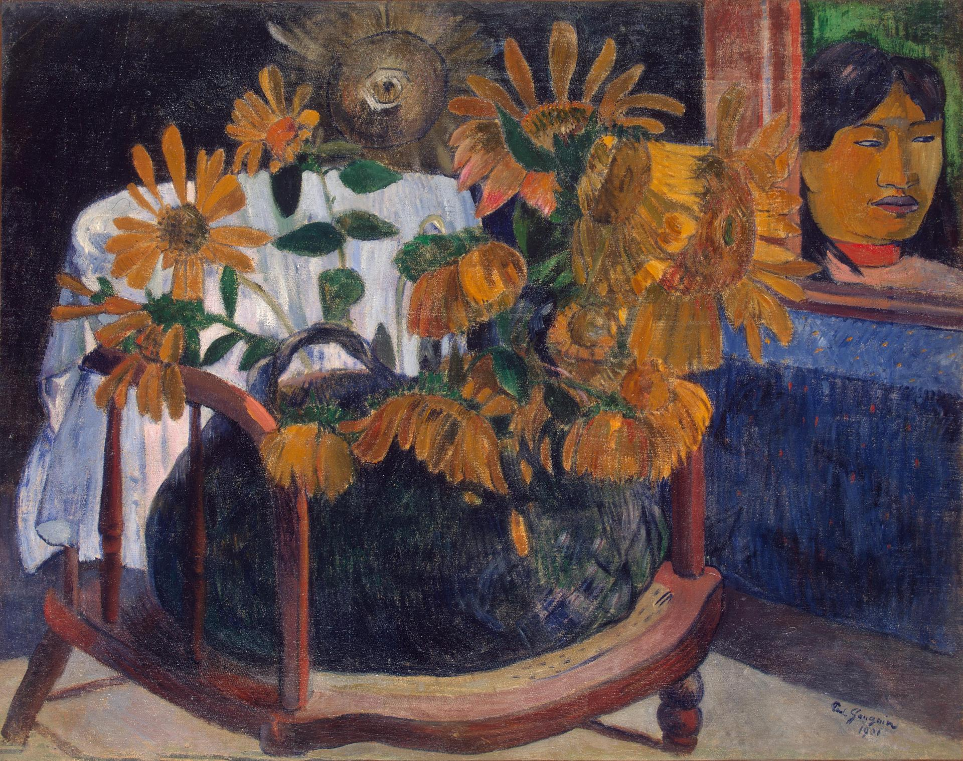 натюрморт - цветы Натюрморт с подсолнухами - Paul Gauguin фото