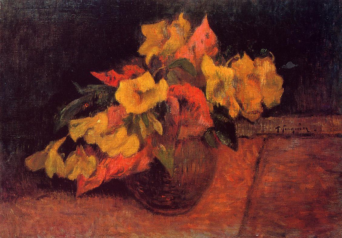 картина натюрморт - цветы < Первоцветы в вазе > :: Поль Гоген - Paul Gauguin фото