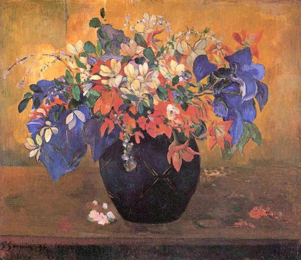 картина натюрморт - цветы < Цветы в вазе > :: Поль Гоген - Гоген Поль ( Paul Gauguin ) фото