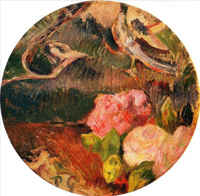 натюрморт Цветы и птицы :: Поль Гоген - Paul Gauguin фото