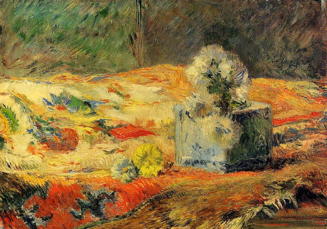 картина натюрморт  < Цветы на ковре > :: Поль Гоген - Гоген Поль ( Paul Gauguin ) фото