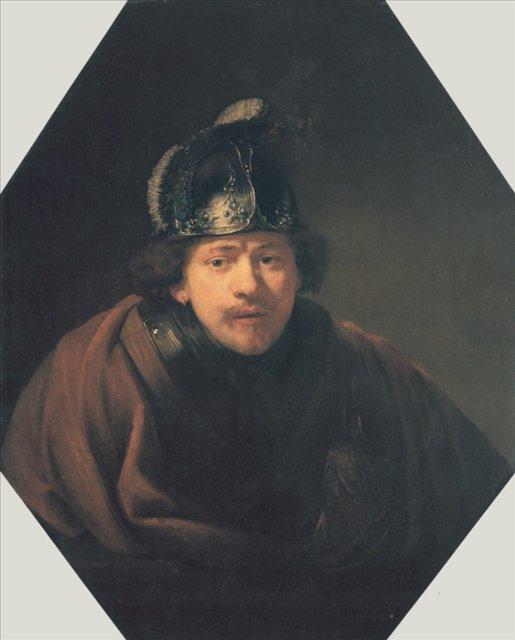 < Автопортрет в шлеме > :: Харменс ван Рейн Рембрандт - Rembrandt (Рембрандт) фото