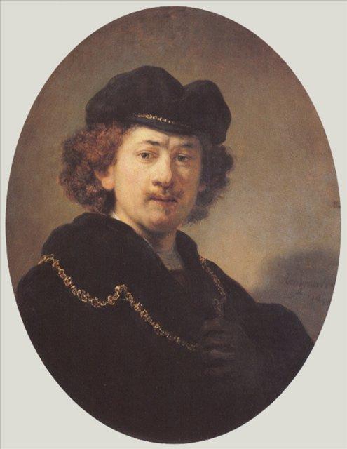 < Автопортрет с рукой на груди > :: Харменс ван Рейн Рембрандт - Rembrandt (Рембрандт) фото