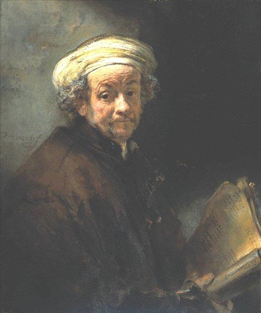 < Автопортрет в виде апостола Павла > :: Харменс ван Рейн Рембрандт - Rembrandt (Рембрандт) фото