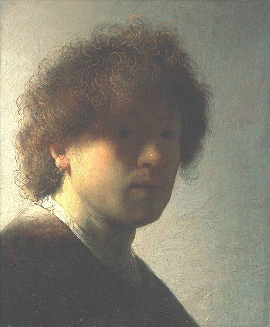 < Автопортрет в молодости > :: Харменс ван Рейн Рембрандт - Rembrandt (Рембрандт) фото