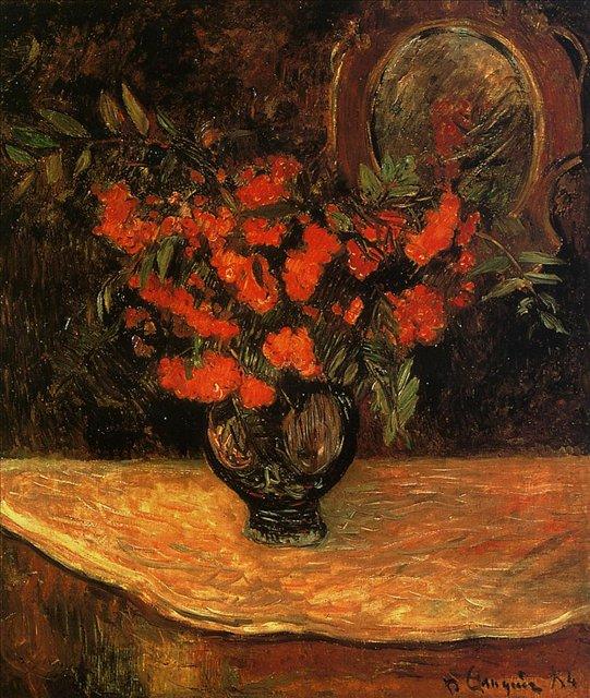 картина цветы < Букет рябины > :: Поль Гоген - Гоген Поль ( Paul Gauguin ) фото