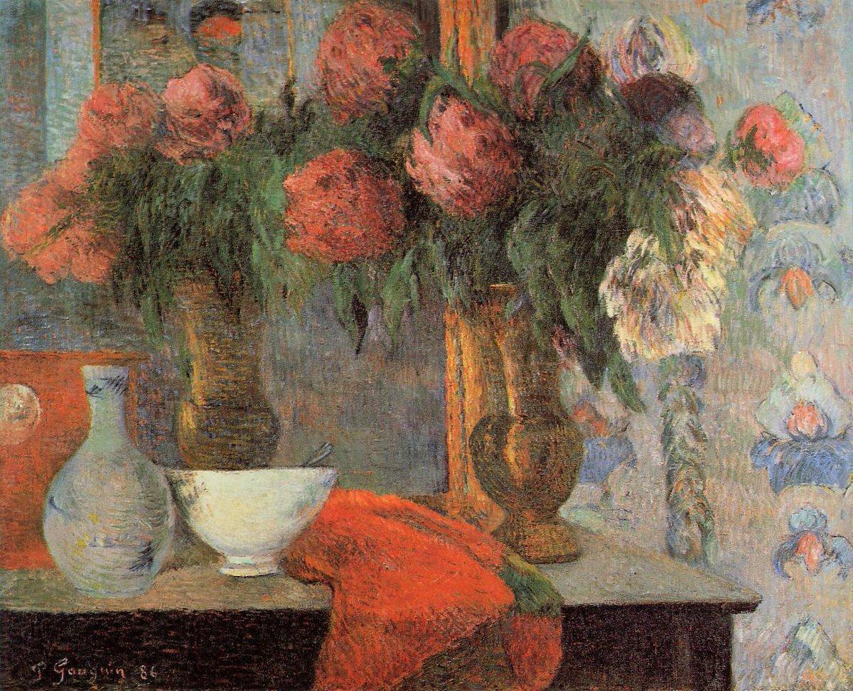 картина цветы < Натюрморт с белыми сосудами > :: Поль Гоген - Гоген Поль ( Paul Gauguin ) фото
