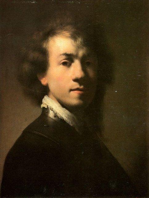 < Автопортрет в 23 > :: Харменс ван Рейн Рембрандт - Rembrandt (Рембрандт) фото