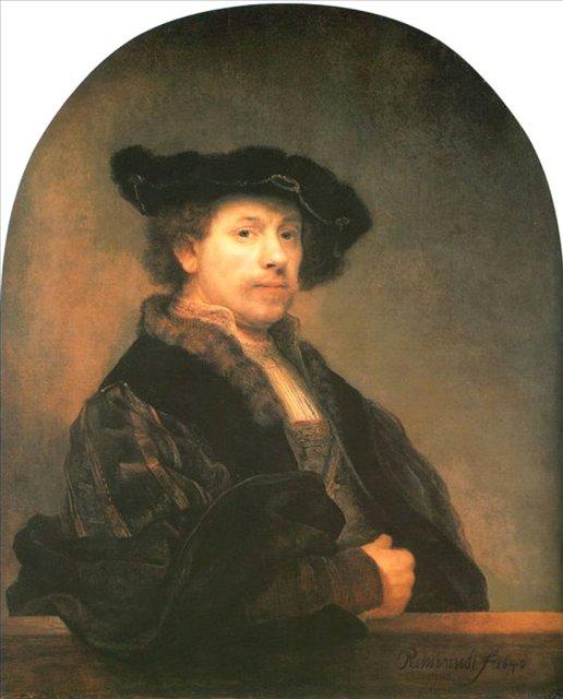 < Автопортрет в 34 > :: Харменс ван Рейн Рембрандт - Rembrandt (Рембрандт) фото