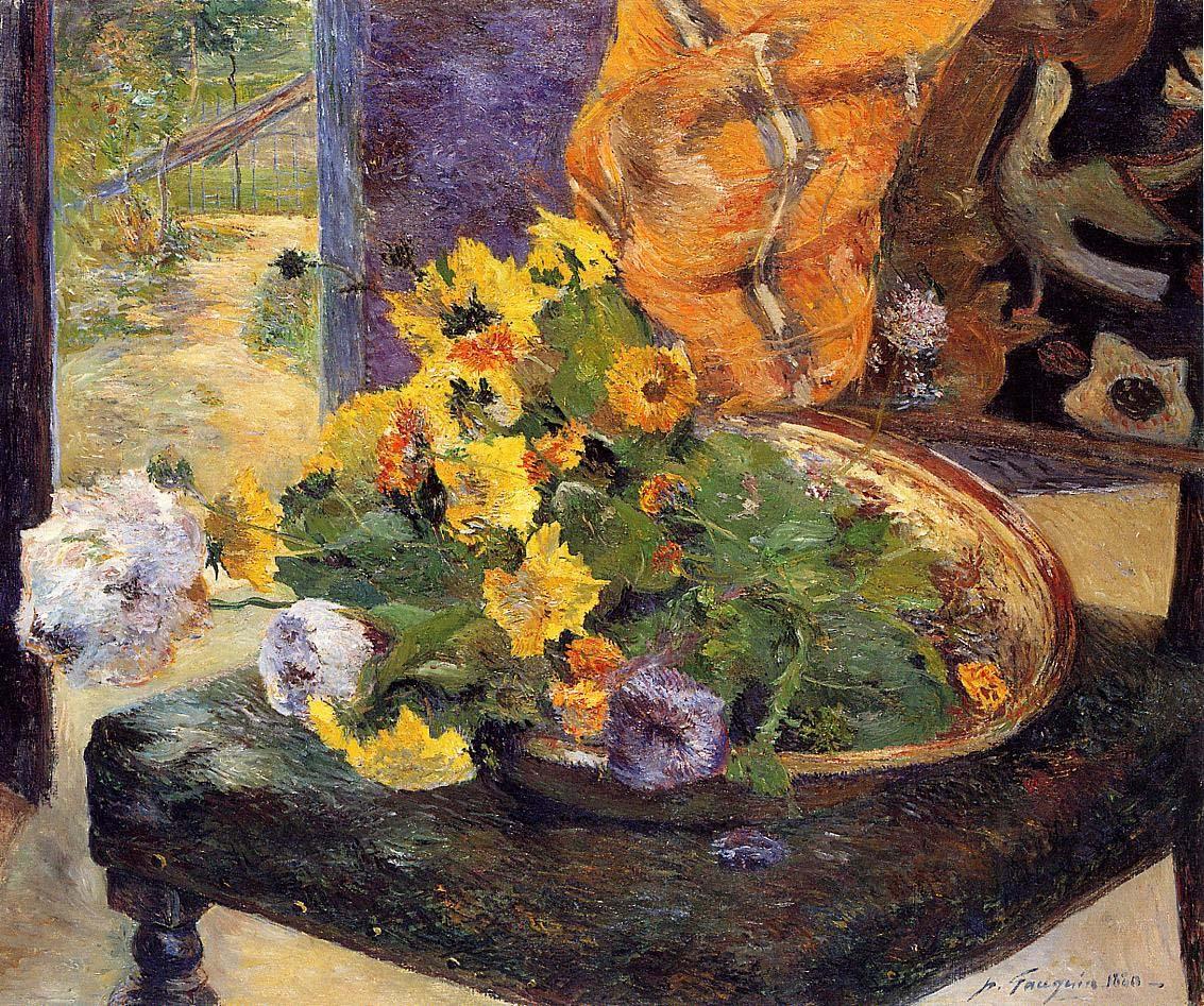 картина цветы < Составление букета > :: Поль Гоген - Paul Gauguin фото