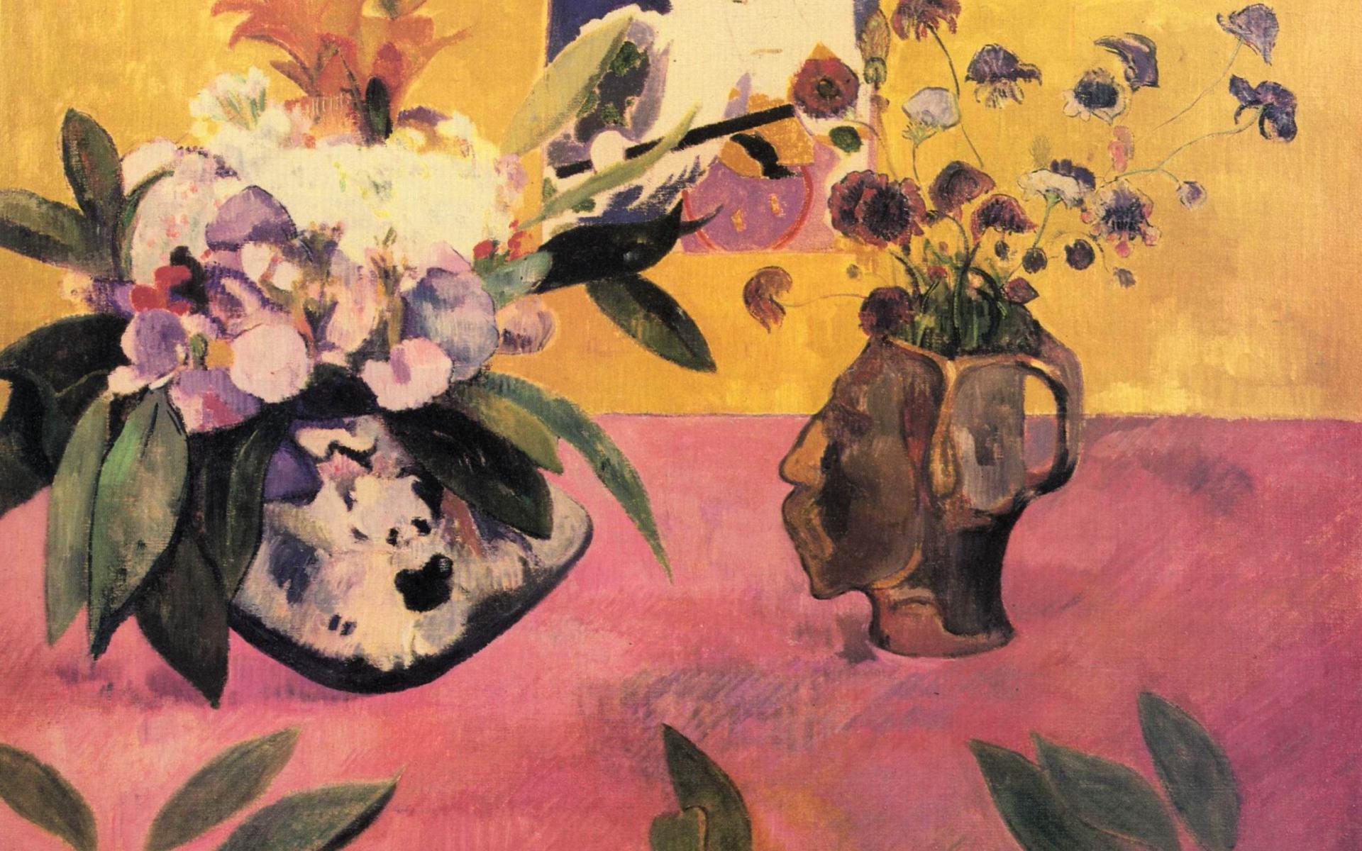 картина  < Натюрморт с японской  гравюрой > :: Поль Гоген - Гоген Поль ( Paul Gauguin ) фото