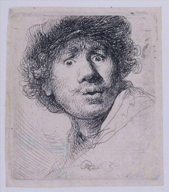 < Автопортрет в кепке > :: Харменс ван Рейн Рембрандт - Rembrandt фото