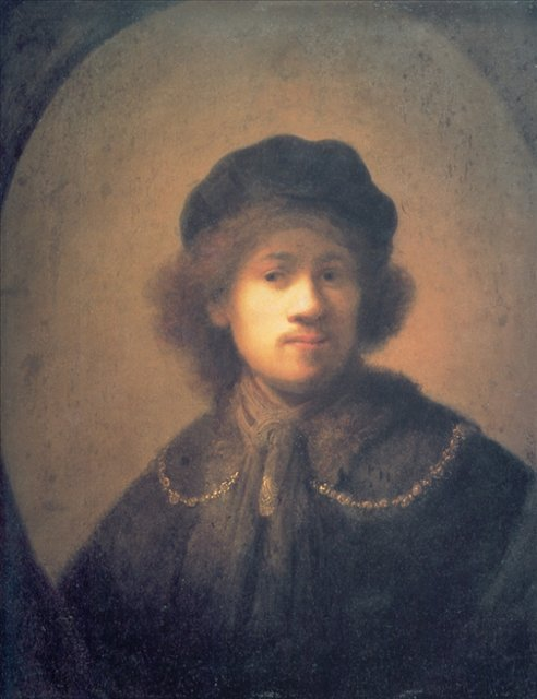< Автопортрет в берете, с золотой цепочкой > :: Харменс ван Рейн Рембрандт - Rembrandt (Рембрандт) фото