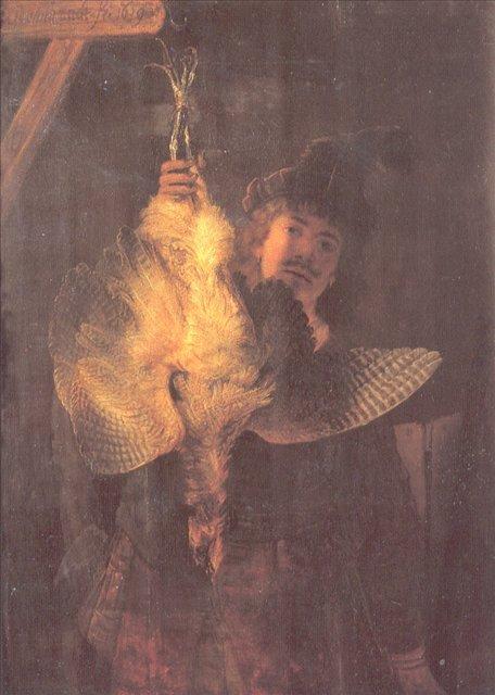 < Автопортрет с выпью > :: Харменс ван Рейн Рембрандт - Rembrandt (Рембрандт) фото