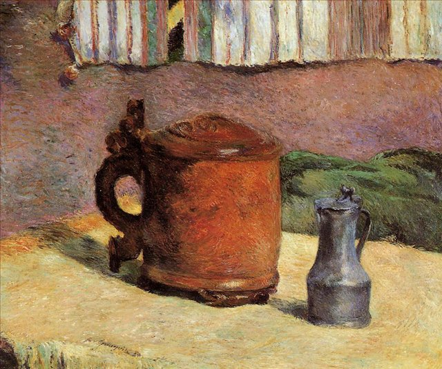 картина  < Глиняная кружка и стальной кувшин )  > :: Поль Гоген - Paul Gauguin фото