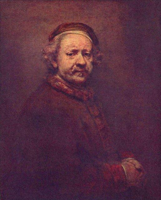 < Автопортрет > :: Харменс ван Рейн Рембрандт - Rembrandt (Рембрандт) фото