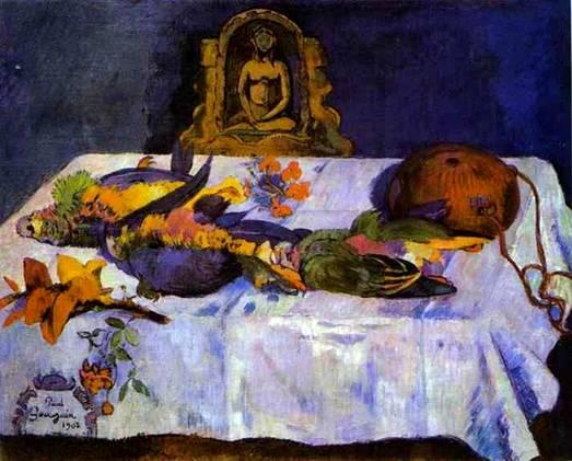 Натюрморт с попугаями :: Поль Гоген - Гоген Поль ( Paul Gauguin ) фото