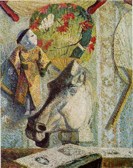 натюрморт с головой лошади :: Поль Гоген - Paul Gauguin фото