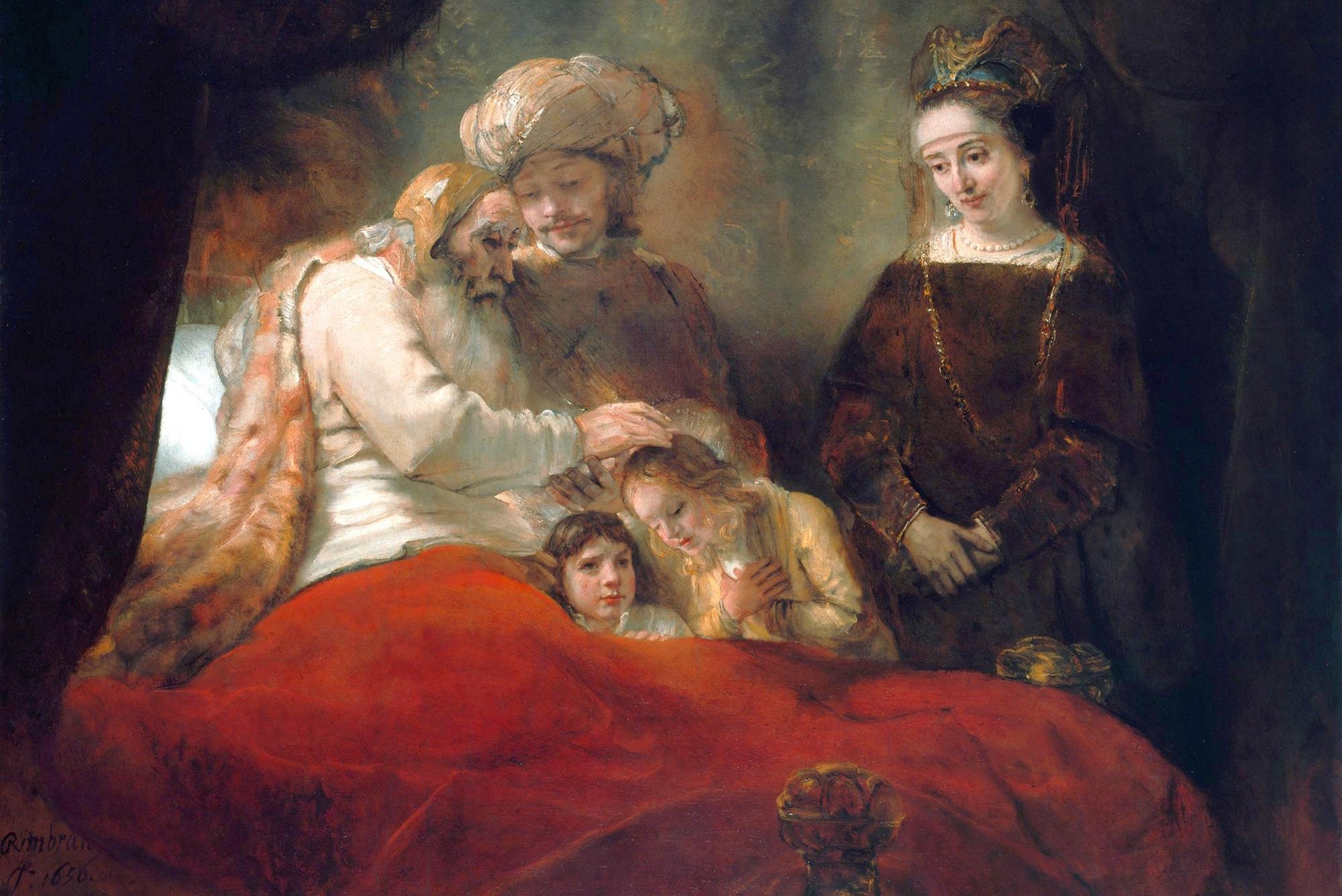 < Иаков благословляющий детей Иосифа > :: Харменс ван Рейн Рембрандт - Rembrandt (Рембрандт) фото