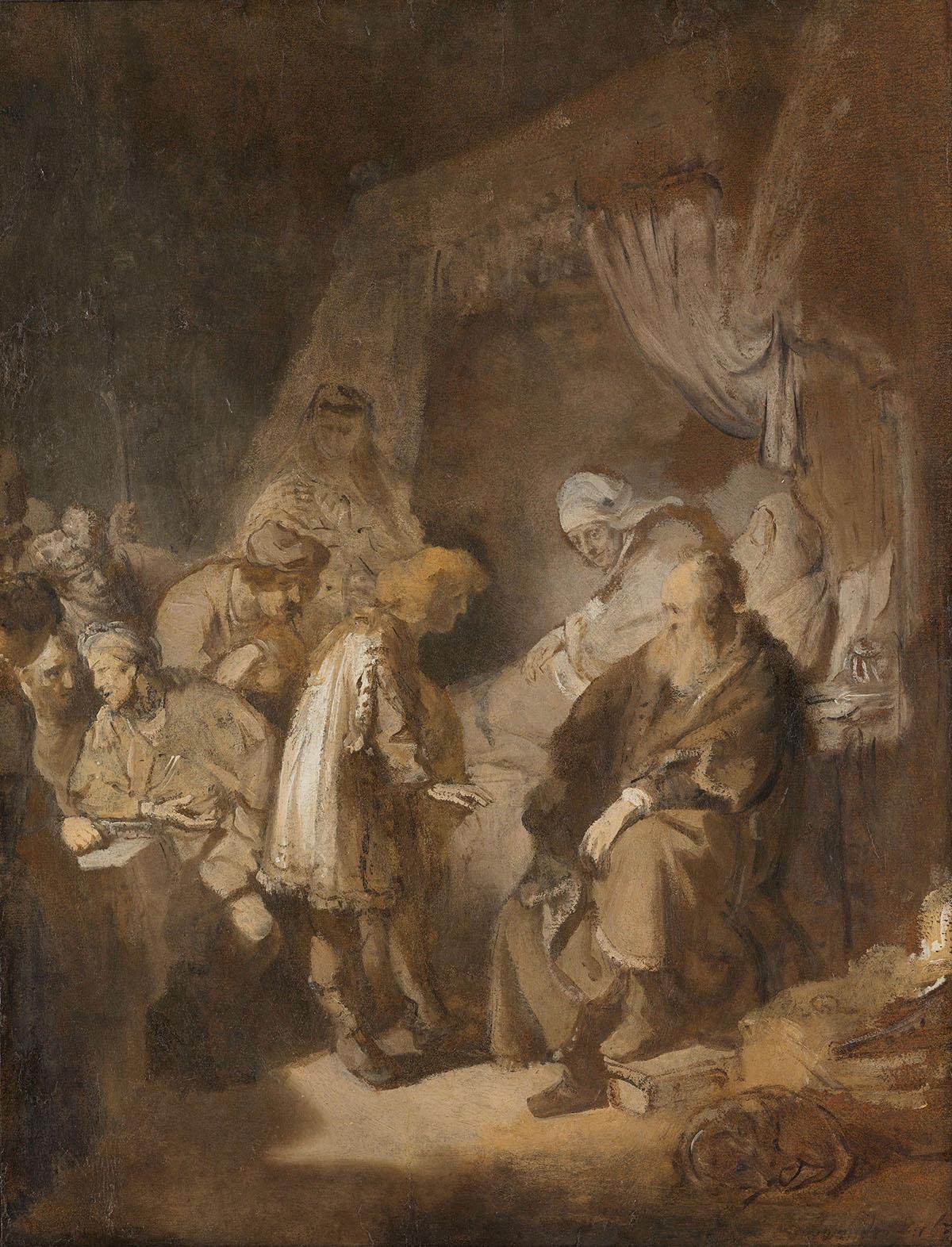 < Иосиф рассказывает свои сны > :: Харменс ван Рейн Рембрандт - Rembrandt фото
