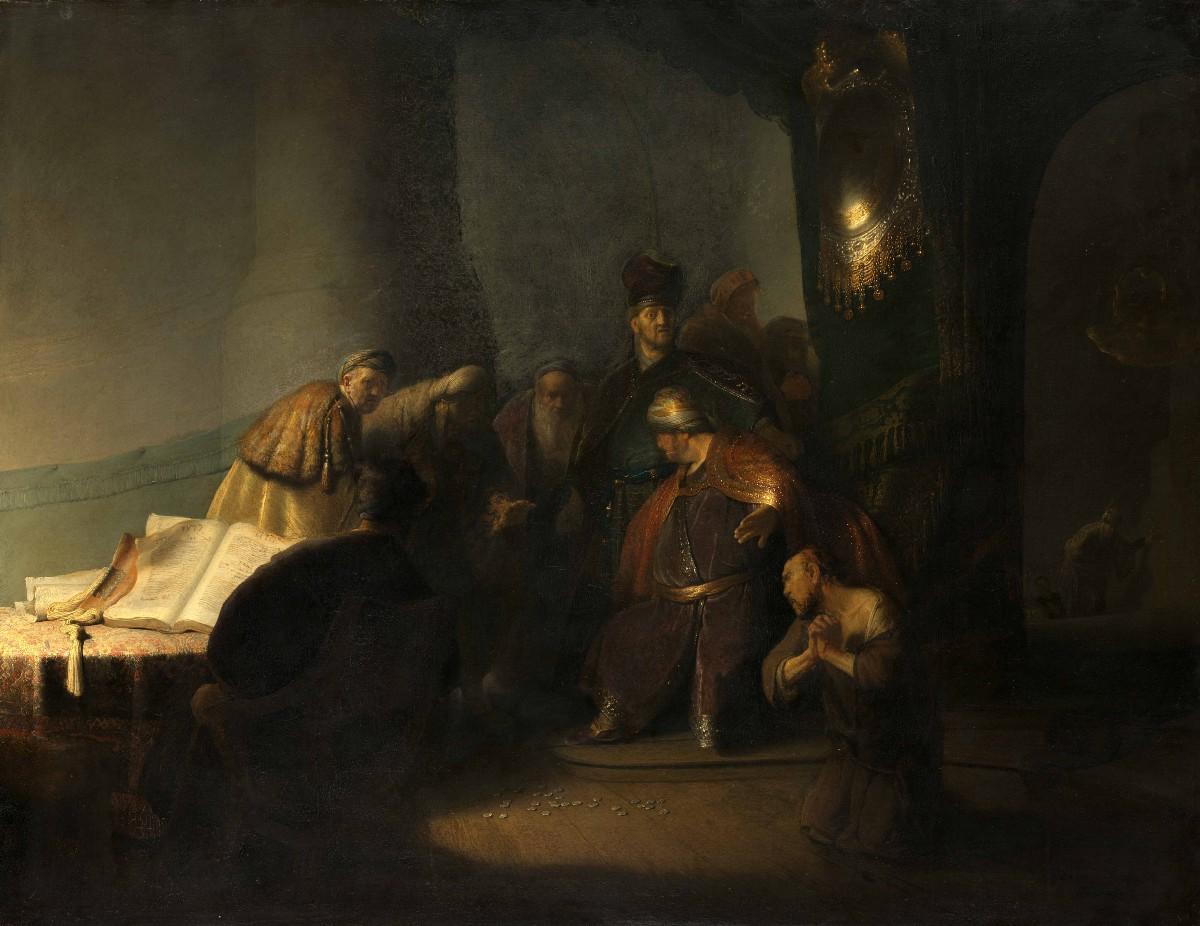 < Иуда раскаивающийся, возвращение серебряных слитков > :: Харменс ван Рейн Рембрандт - Rembrandt (Рембрандт) фото