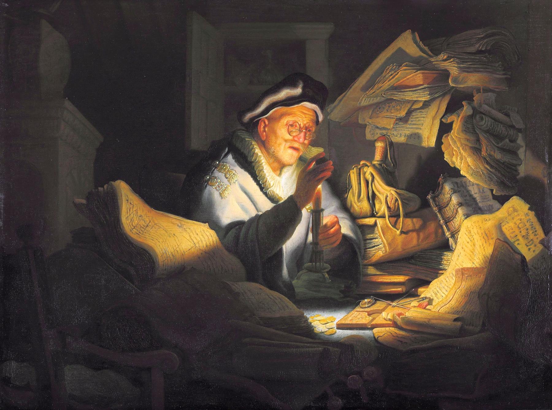 Картина Меняла :: Харменс ван Рейн Рембрандт - Rembrandt фото