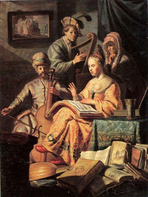 картина Музыкальная мастерская :: Харменс ван Рейн Рембрандт - Rembrandt фото