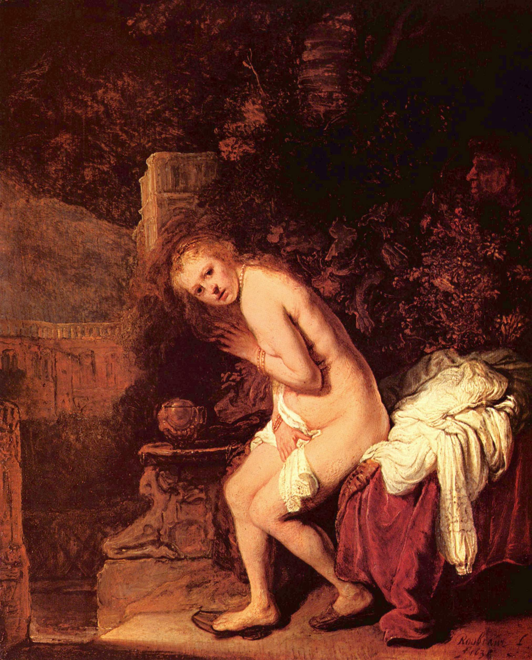 Купание Сусанны :: Харменс ван Рейн Рембрандт - Rembrandt (Рембрандт) фото