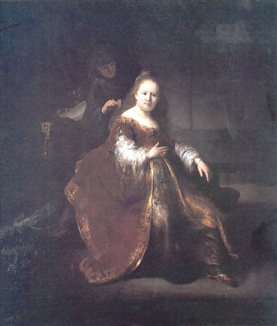 < Героиня Ветхого Завета > :: Харменс ван Рейн Рембрандт - Rembrandt (Рембрандт) фото