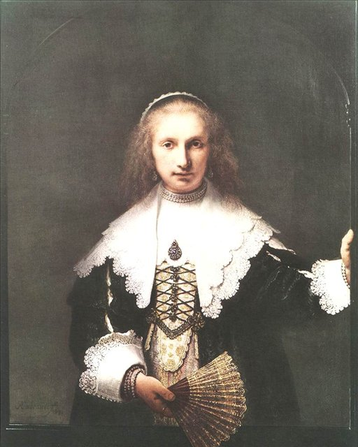 женский портрет Агата Бас :: Харменс ван Рейн Рембрандт - Rembrandt фото