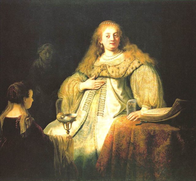 портрет царственной Артемисии :: Харменс ван Рейн Рембрандт - Rembrandt фото