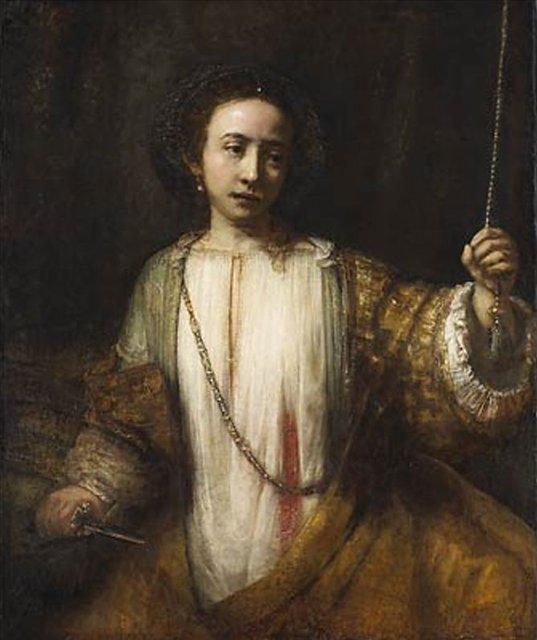 < Лукреция > :: Харменс ван Рейн Рембрандт - Rembrandt (Рембрандт) фото