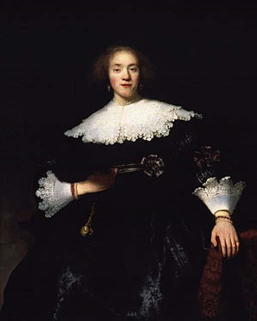 < Портрет сидящей женщины > :: Харменс ван Рейн Рембрандт - Rembrandt (Рембрандт) фото