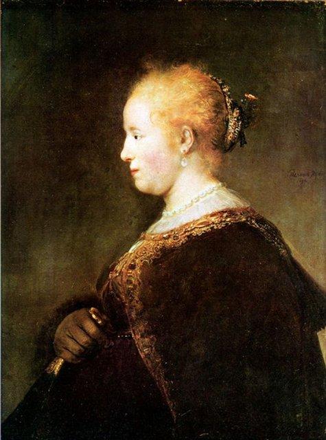 < Портрет молодой женщины > :: Харменс ван Рейн Рембрандт - Rembrandt фото