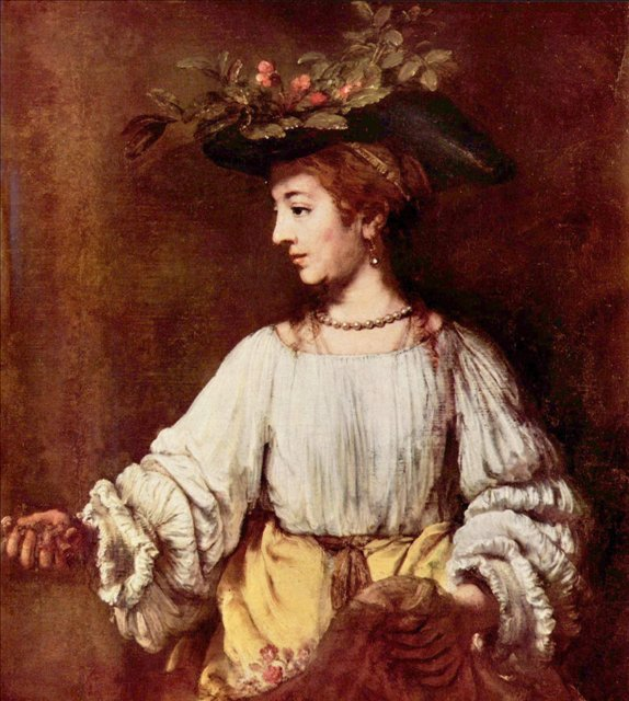 < Хендрикье в виде Флоры > :: Харменс ван Рейн Рембрандт - Rembrandt (Рембрандт) фото