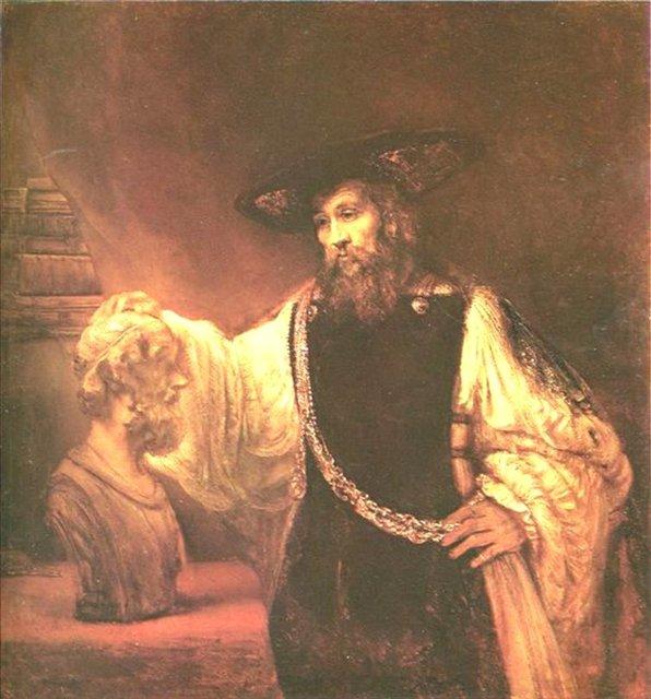 < Аристотель с бюстом Гомера > :: Харменс ван Рейн Рембрандт - Rembrandt (Рембрандт) фото