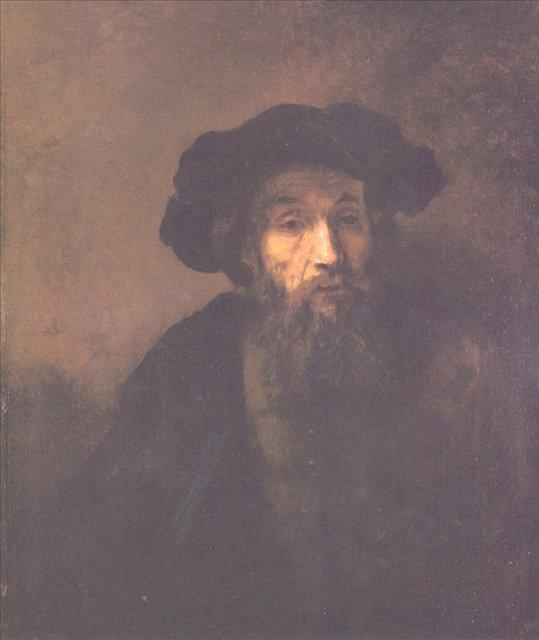 < Бородатый мужчина в берете > :: Харменс ван Рейн Рембрандт - Rembrandt (Рембрандт) фото