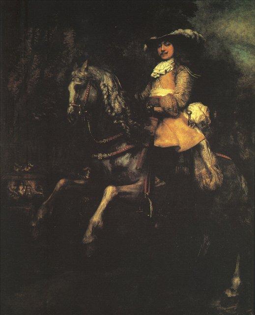 < Фредерик Рихель верхом > :: Харменс ван Рейн Рембрандт - Rembrandt (Рембрандт) фото