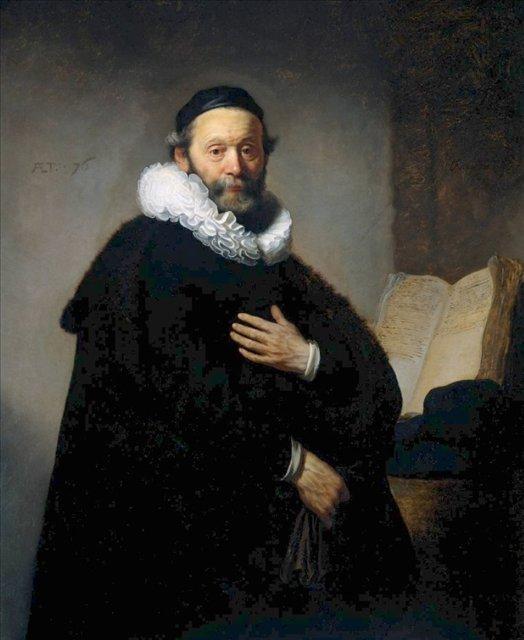 < Йоханнес Уотенбогарт, министр > :: Харменс ван Рейн Рембрандт - Rembrandt (Рембрандт) фото