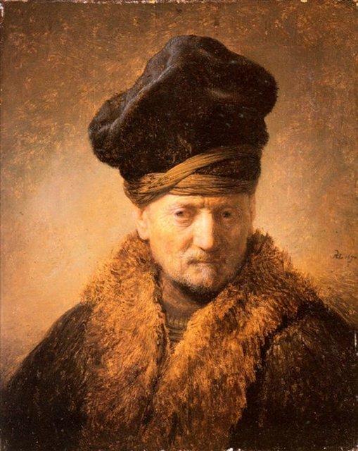 < Старик в пальто с меховым воротником > :: Харменс ван Рейн Рембрандт - Rembrandt фото