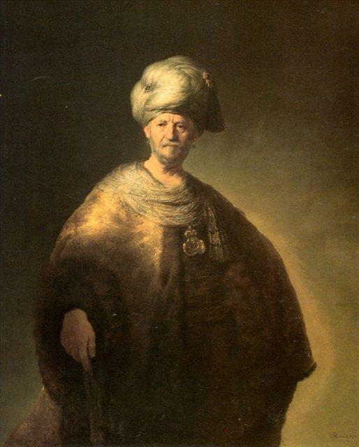 < Портрет мужчины в восточной одежде > :: Харменс ван Рейн Рембрандт - Rembrandt (Рембрандт) фото