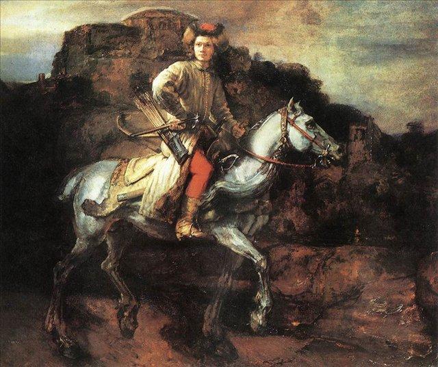 < Польский всадник > :: Харменс ван Рейн Рембрандт - Rembrandt фото