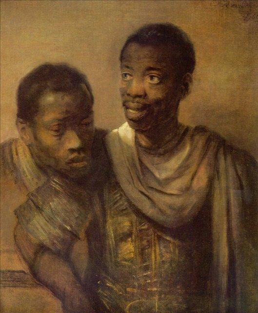< Два молодых негра > :: Харменс ван Рейн Рембрандт - Rembrandt (Рембрандт) фото