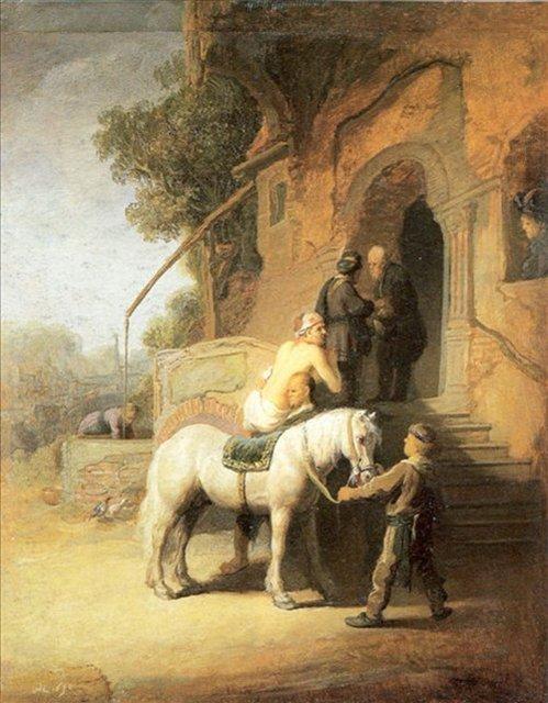< Щедрые самаритяне (Добрые самаритяне) > :: Харменс ван Рейн Рембрандт - Rembrandt (Рембрандт) фото