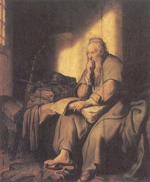 картина < Святой Павел в тюрьме > :: Харменс ван Рейн Рембрандт - Rembrandt (Рембрандт) фото