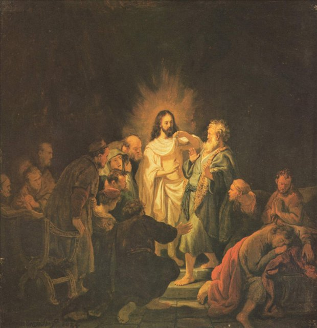 картина < Фома неверующий > :: Харменс ван Рейн Рембрандт - Rembrandt (Рембрандт) фото