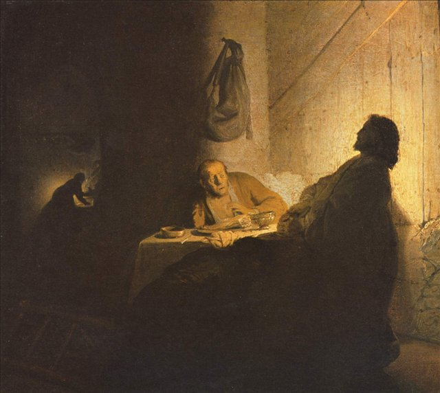 картина < Христос в Эммаусе > :: Харменс ван Рейн Рембрандт - Rembrandt (Рембрандт) фото