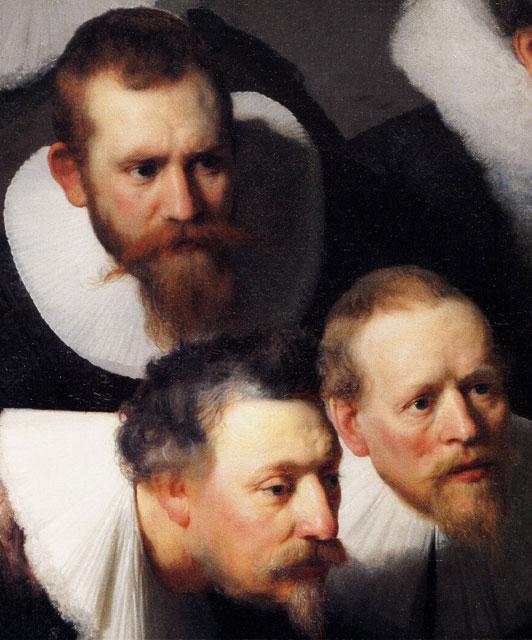 Уроки анатомии ( часть картины, деталь ) - Rembrandt (Рембрандт) фото