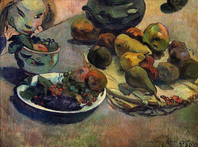 Натюрморт с фруктами :: Гоген Поль, описание картин - Гоген Поль ( Paul Gauguin ) фото